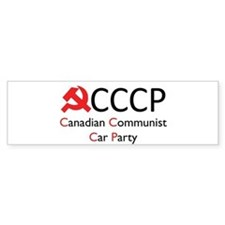 CCCP - Canadian Communist Car Bumper Sticker