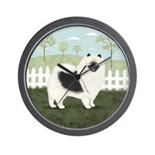 Country Keeshond Wall Clock