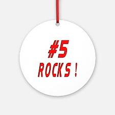 5 Rocks ! Ornament (Round)