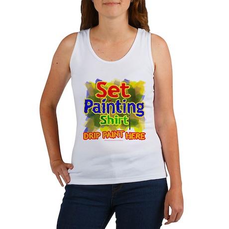 Set Painting Shirts Women's Tank Top