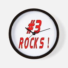 3 Rocks ! Wall Clock