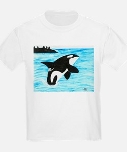 Breaching Orca Kids T-Shirt