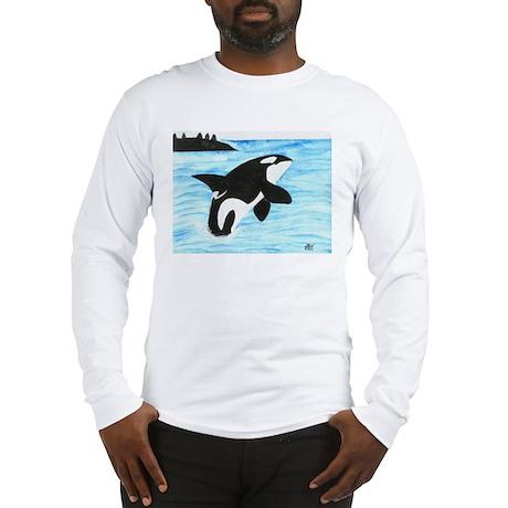 Breaching Orca Long Sleeve T-Shirt