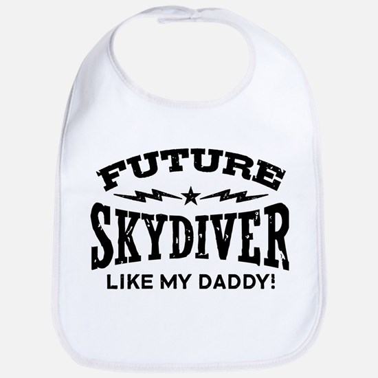 Future Skydiver Like My Daddy Cotton Baby Bib