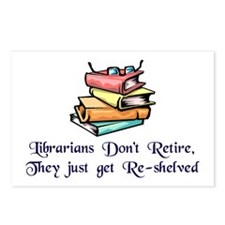 """""""Librarians Don't Retire"""" Postcards (Package of 8)"""