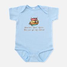 """""""Librarians Don't Retire"""" Infant Bodysuit"""