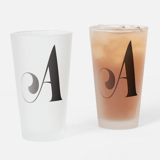 Monochromatic A Scroll Monogram Drinking Glass