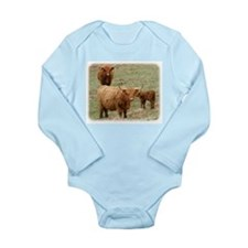Highland Cattle 9Y316D-017 Long Sleeve Infant Body