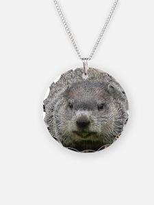 Groundhog Eating Necklace