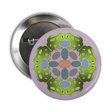 """Frog Mandala 2.25&Quot; But 2.25"""" Button (10 Pack)"""