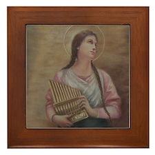 St. Cecilia Framed Tile