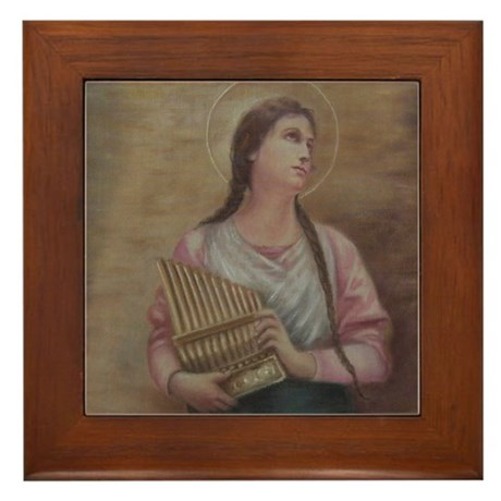 St. Cecilia Framed Tile