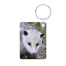 Opossum Aluminum Photo Keychain