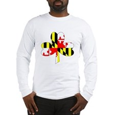 Maryland Irish Shamrock Long Sleeve T-Shirt