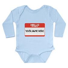 HELLO Long Sleeve Infant Bodysuit