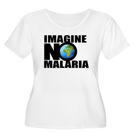 Imagine No Malaria Women's Plus Size Scoop Neck T-