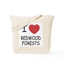 I heart redwood forests Tote Bag