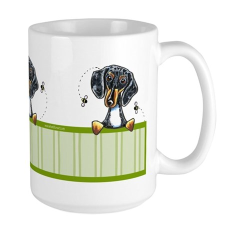 Bee Nice Dapple Dachshund Large Mug