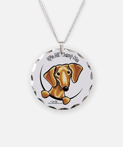 Red Dachshund IAAM Necklace