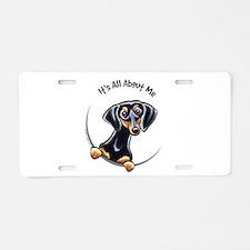 Black Tan Dachshund Lover Aluminum License Plate