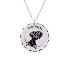 Black Tan Dachshund Lover Necklace