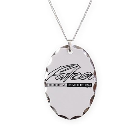 Falcon Necklace Oval Charm