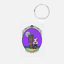 Goth Hula Girl Keychains