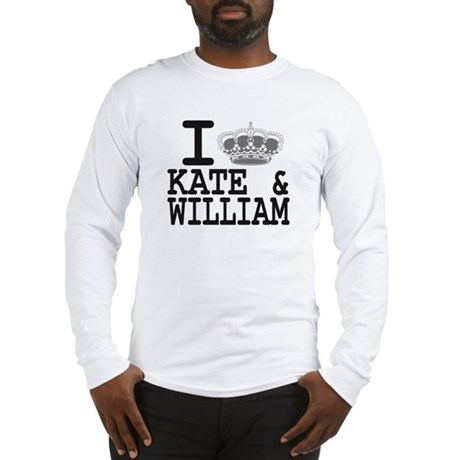 KATE and WILLIAM CROWN Long Sleeve T-Shirt