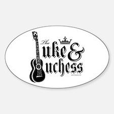 The Uke & Duchess Sticker (Oval)