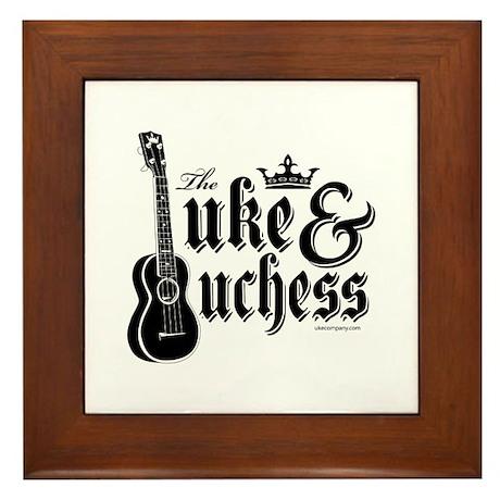 The Uke & Duchess Framed Tile