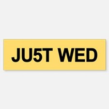 "Royal Wedding ""JUST WED"" Bumper Bumper Sticker"