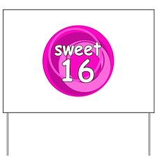 Pink Sweet 16 Yard Sign
