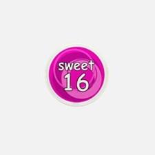 Pink Sweet 16 Mini Button
