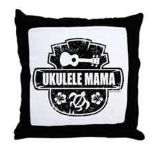 Ukulele Mama Throw Pillow