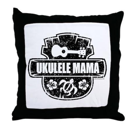 Ukulele Mama Throw Pillow