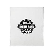 Ukulele Mama Throw Blanket