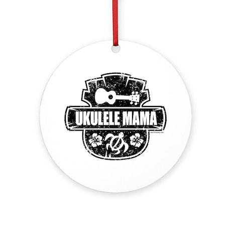 Ukulele Mama Ornament (Round)