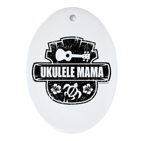 Ukulele Mama Ornament (Oval)