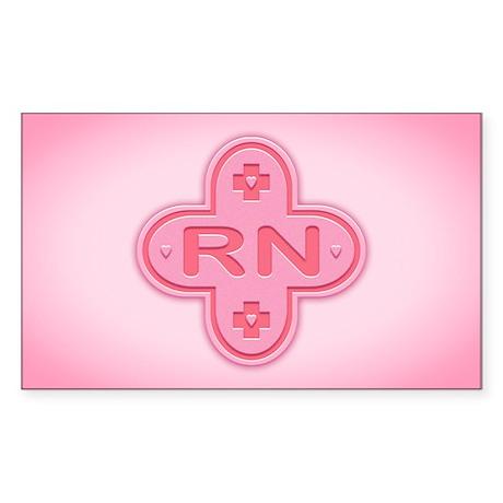 Pink Cross Sticker (Rectangle)