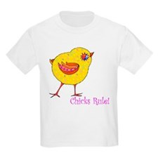 """Chicks Rule"" Kids T-Shirt"