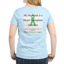 Husband Heart Transplant Women's Pink T-Shirt