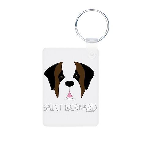 Saint Bernard Cartoon Face Aluminum Photo Keychain
