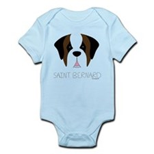 Saint Bernard Cartoon Face Infant Bodysuit