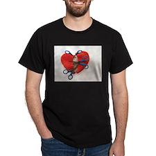 Open heart surgery Black T-Shirt