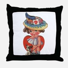 Cool Little valentine Throw Pillow