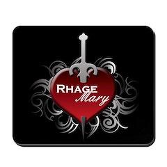 Tribal Heart Mousepad - Rhage and Mary
