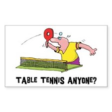 Table Tennis Rectangle Decal