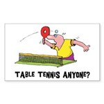Table Tennis Rectangle Sticker