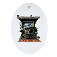 Cav Scout - Standing Out Ornament (Oval)