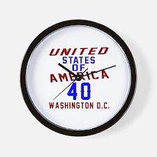 America 40 Birthday Wall Clock